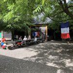 De Franse vlag hangt uit!